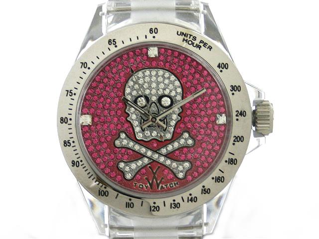TOYWATCH トイウォッチ SKULL COLLECTION 腕時計 3001-PK スカル×ジルコニア ピンク【送料無料 並行輸入品】