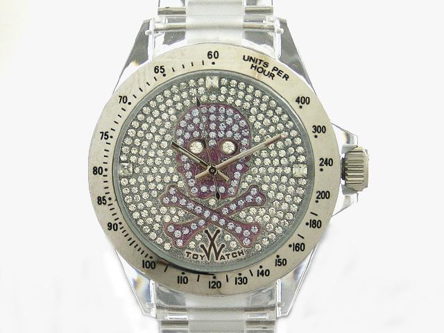 TOYWATCH トイウォッチ SKULL COLLECTION 腕時計 3001-PU スカル×ジルコニア パープル 【送料無料 並行輸入品】