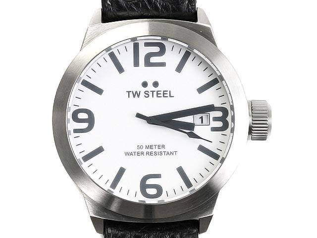 TW STEEL ティーダブルスティール 腕時計 TW620 ホワイト×ブラック メンズ Watch ウォッチ クオーツ 【送料無料 並行輸入品】