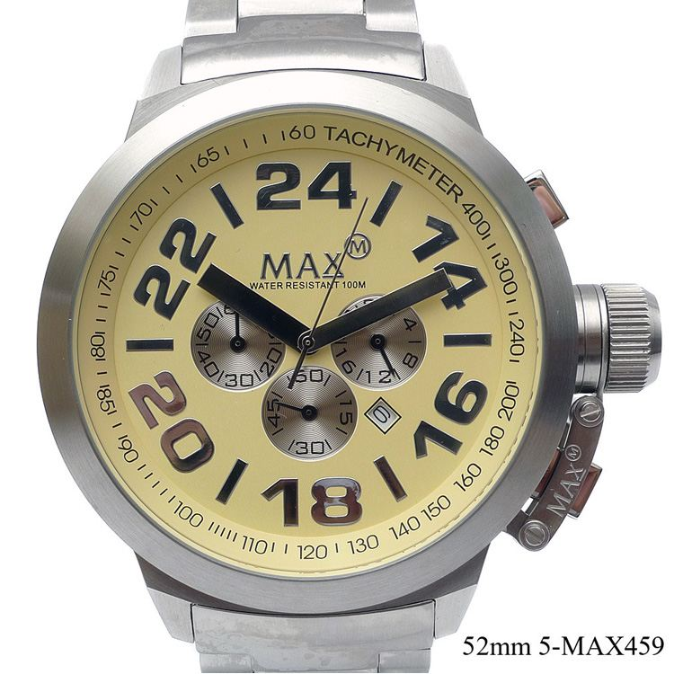 2a888b6560 楽天市場】MAX XL WATCHES 5-MAX459 腕時計 クロノグラフ機能 日付表示 ...