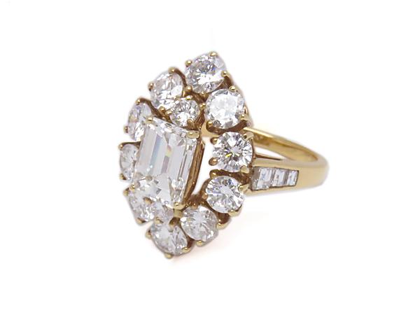 【GRAFF/グラフ】K18 ダイヤモンド DIA3.63ct デザインリング #8.5 レセット 瀬戸質店【中古】