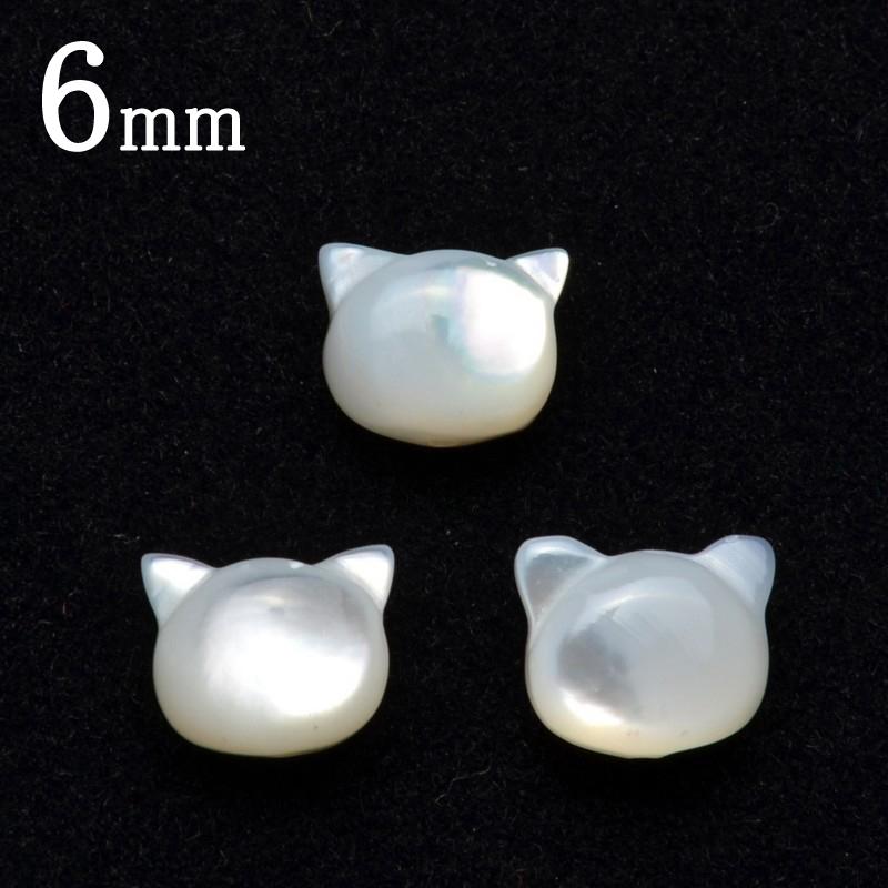 푸밤 사랑스럽다! 마더 오브 펄 고양이(고양이) 6 mm 알갱이 매도_T357-6 5000엔 이상