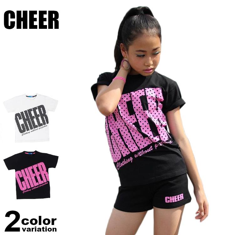 【メール便送料無料】CHEER (チアー) Tシャツ 半袖 レディース キッズ ジュニア ダンス スポーツジム フィットネス #cx813232
