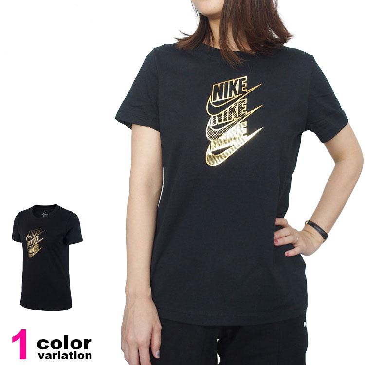【メール便送料無料】NIKE ナイキ Tシャツ 半袖 レディース ウィメンズ 婦人向け STMT SHINE Tシャツ【TEE シャツ ロゴ スポーツウェア ランニング ヨガ】#cd7428