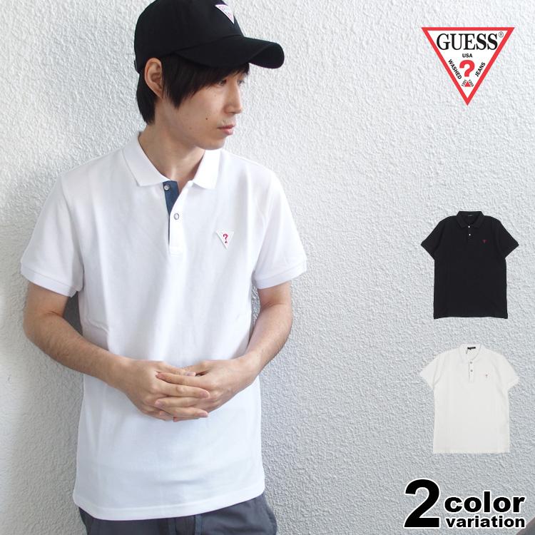 【メール便送料無料】ゲス GUESS ポロシャツ 半袖 メンズ Mini Triangle Logo S/S Polo (guess ポロシャツ トライアングル ロゴ ティーシャツ トップス MJ2K9470)