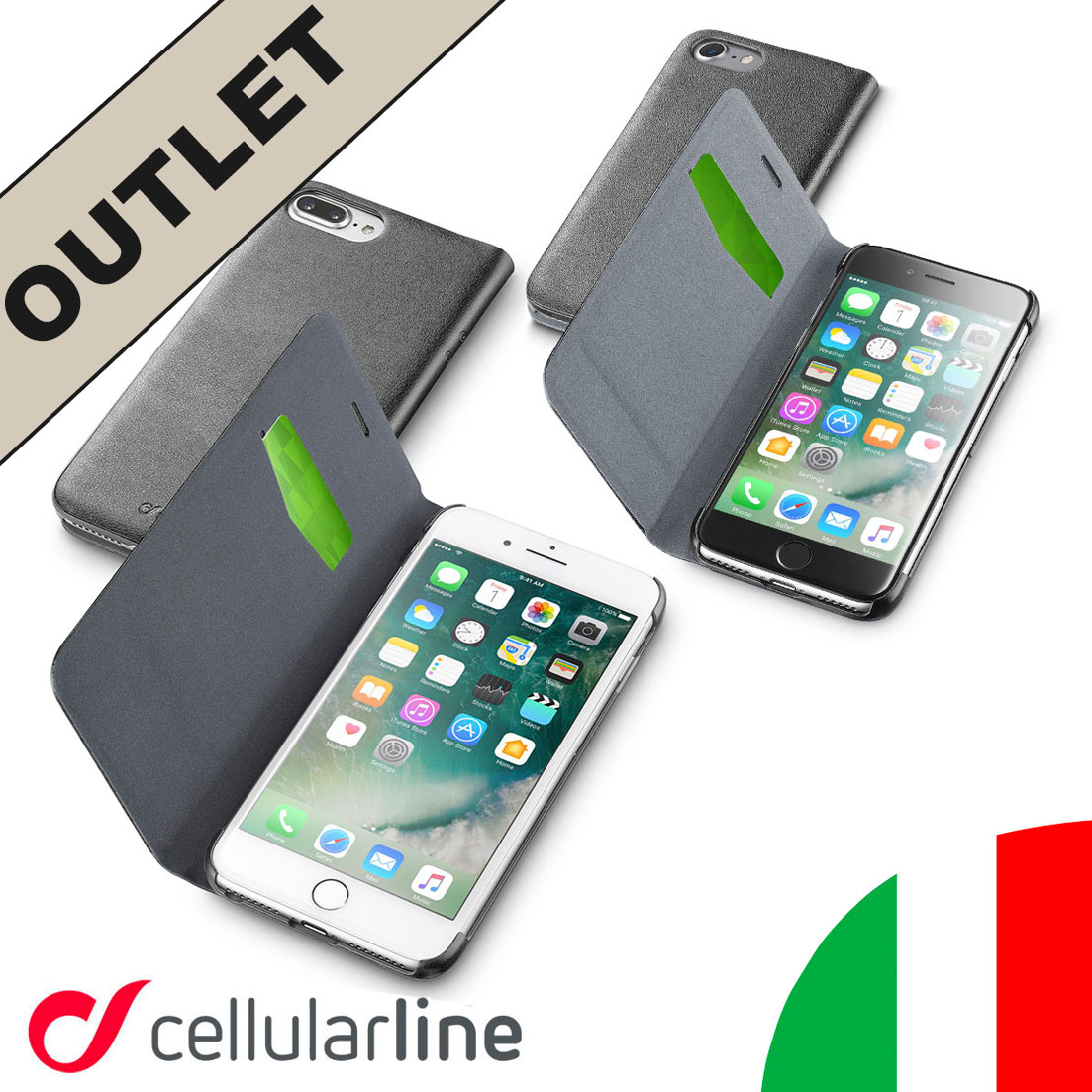 custodia libro cellular line iphone 7