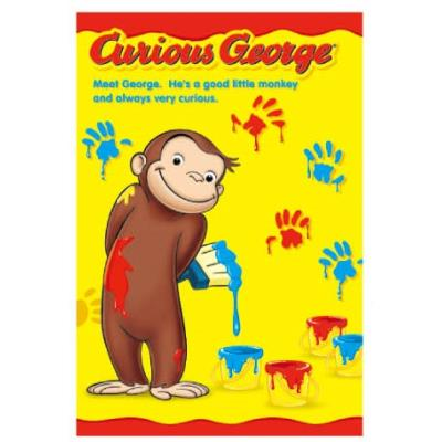 Curious George Stationery Toy Postcard Paint 541544