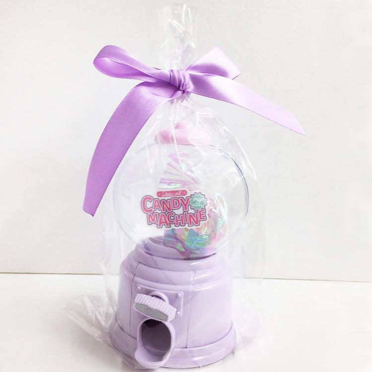 消しゴム プレゼント かわいい 貯金箱  キャンディマシーン 文具ギフトセット パープル 460575