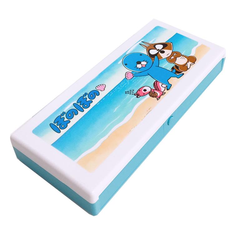 プレゼント かわいい 女の子向け 直送商品 癒しキャラ いがらしみきお 筆入れ 筆箱 ぼのぼの 海 アウトレット ラッピング不可 プラペンケース 市場 812342 グッズ