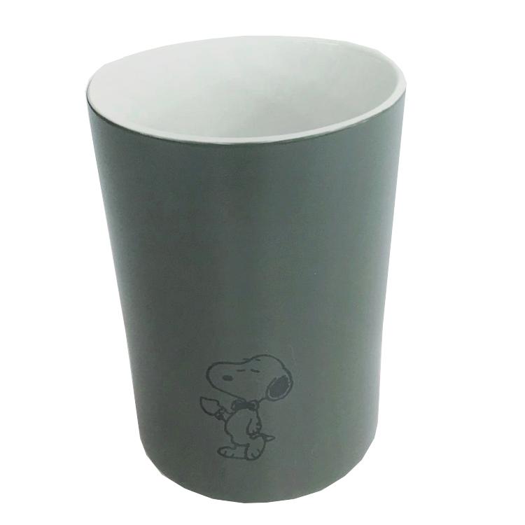 コーヒーカップ 湯のみ ティーカップ デポー 最新アイテム 食器 かわいい 女の子向け ハーフマットフリーカップ ラッピング不可 スヌーピーグッズ グリーン 002125