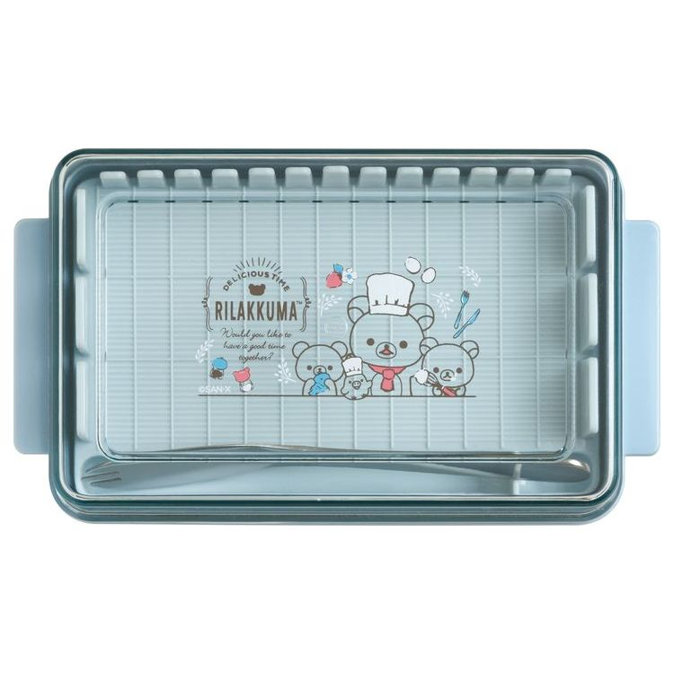 商品 スーパーセール 2021年9月商品 サンエックス 保存ケース 9月中旬以降~出荷 定量カッティング付バターケース キッチン雑貨 リラックマグッズ