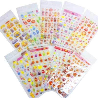 -1136 エポキシシール grab bag for girls (B) 9 sheets
