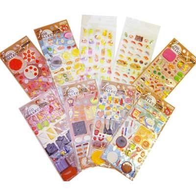 -1141 フードコレクションシール grab bag (G) 9 sheets