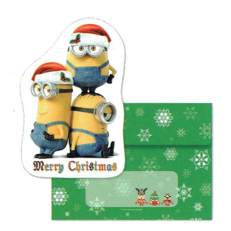 Minion Christmas.Minion Christmas Card Die Cut Minion 179643