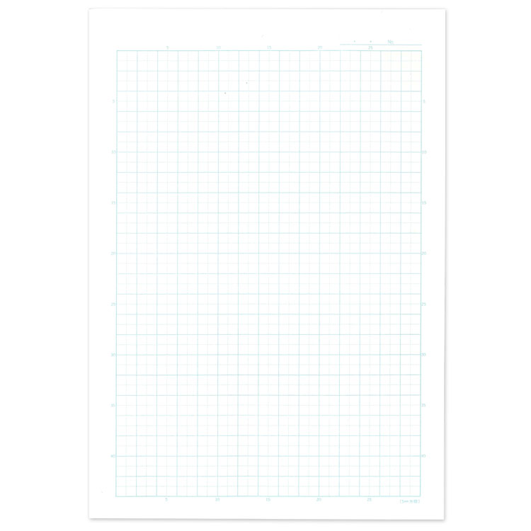 B 5 seal 5 mm squared ruled notebook, leader ruled with (black)