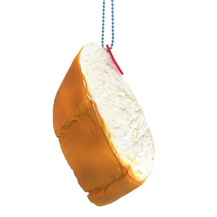 Squishy Food 卸直営 squeeze ぷにぷに やわらか マスコット メーカー在庫限り品 パン ラッピング不可 ボールチェーン付き 620514 プレーン ぷにぷにマスコット バケット スーパースクイーズマスコット サニーズキッチン パン雑貨
