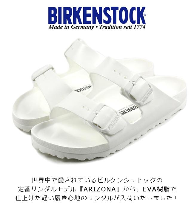 ◆ビルケンシュトック building Ken Arizona EVABIRKENSTOCK ARIZONA EVA Arizona EVA waterproofing sports sandals スポサン 129443 white light weight sole