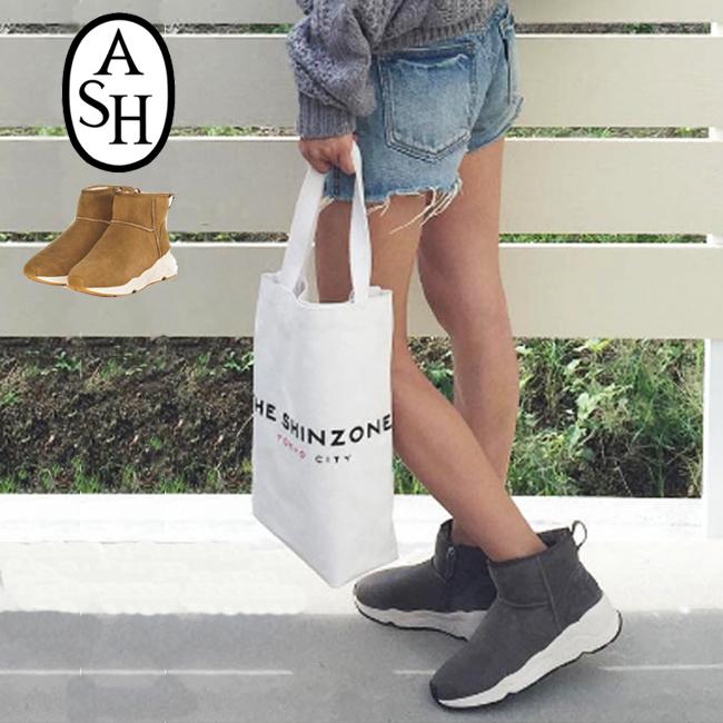 ■【ASH/アッシュ】#MIKO WOMENS BOOTSイタリア発ブランド上質なレザースニーカーブーツショート/インヒール付き/本革使用/ショートブーツ/ムートンブーツ バーゲン