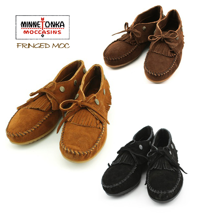 0c209769b84 laughrare   Stock  MINNETONKAFRINGED MOC (fringe MOC) moccasin shoes ...