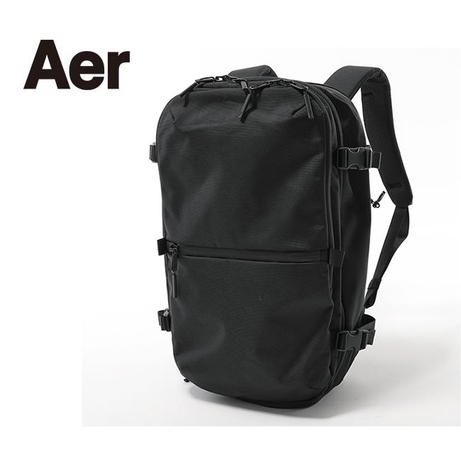 Aer エアー Travel Pack 2 AER-21007 トラベルパック バックパック 卓越 デイパック リュック 鞄 通勤 5☆好評 大容量 メンズ レディース ブラック バッグ 通学 Collection ビジネスバッグ 黒 ナイロン