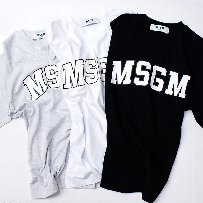 ≪2019年最新春夏モデル≫ MSGM【エムエスジーエム】ロゴ Tシャツ TEE2641MDM162 195298 BLACK(99) 2641MDM162 195298 WHITE(01) 2641MDM162 195296 GREY(94) ビッグロゴ 大きいサイズ オーバーサイズ レディース メンズ ユニセックス
