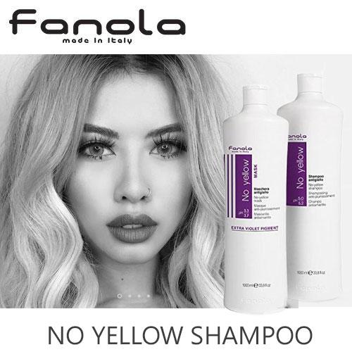 お得な1000ml☆ファノラ(Fanola)黄色みが消える 紫シャンプー&ヘアマスクSET パープルシャンプーとマスクできれいな外国人髪