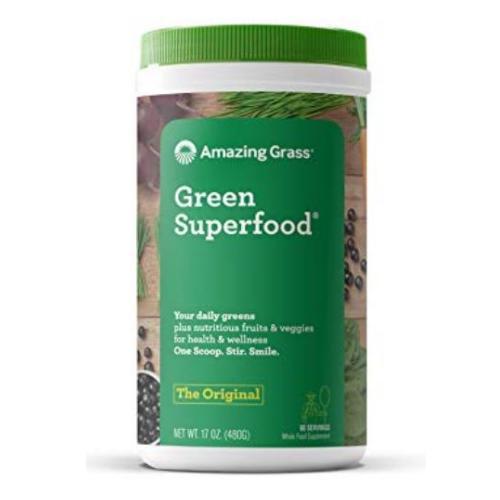アメージンググラス【オーガニック】グリーンスーパーフード 青汁 ウィートグラス60杯分【480g】 Amazing Grass Green SuperFood プログリーンズ