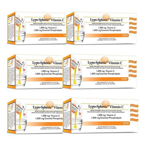 6箱セット リポスフェリック ビタミンC 1000mg 大人気の液体サプリメント Lypo Spheric VitaminC