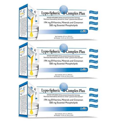 3箱セット リポスフェリック Bコンプレックス ミネラル・ビオチン・シナモン プラス 大人気の液体サプリメント LypoSpheric B Complex Plus