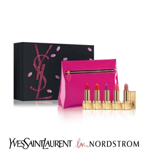 限定☆Yves Saint Laurent x Nordstrom (イヴサンローラン×ノードストローム ) ポーチ付き ミニリップセット Mini Rouge Pur Couture Lipstick Set