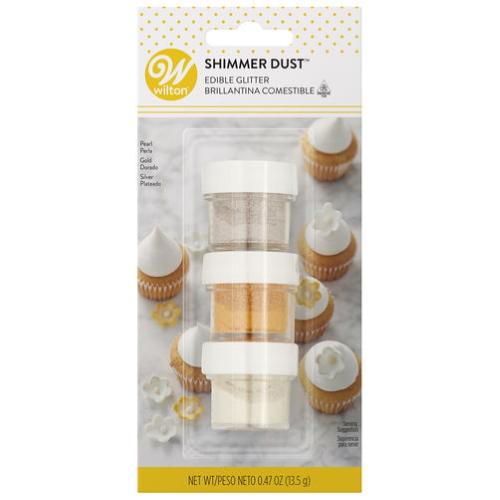 WILTON 【ウィルトン】 食用 キラキラパウダー 3色 パール・ゴールド・シルバー Shimmer Dust