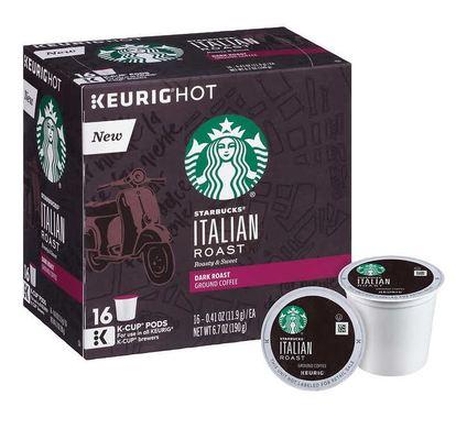 スターバックス イタリアンロースト128個(16×8箱) ダークロースト キューリグ kカップ K-CUP Starbucks Itallian