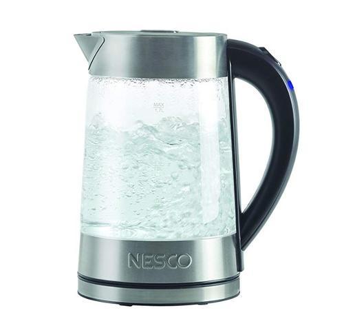 ネスコ ガラス電気ケトル ウォーターケトル【変換プラグ付】Nesco GWK-02 Electric Glass Water Kettle 1.8 Quart