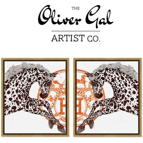 2点セット Oliver Gal オリバーガル 【51x61cm】Appaloosa Cavalier (20