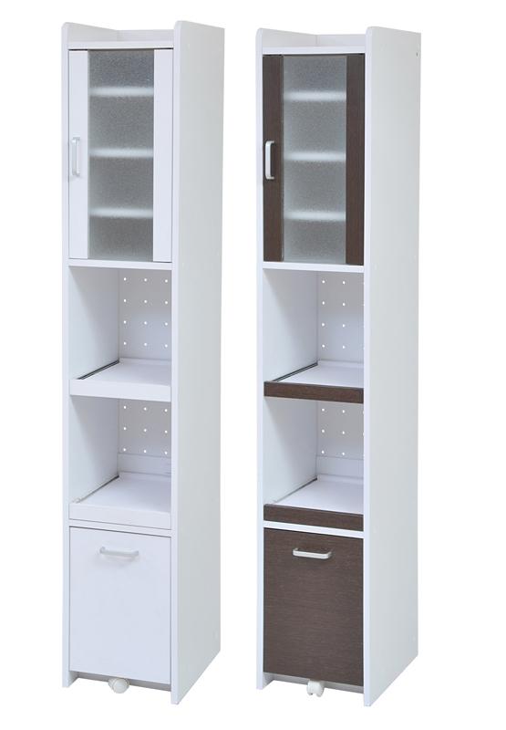 隙間ミニキッチン H180 ミニキッチン 小さい食器棚 スリム食器棚 小さい 低い 可愛い食器棚 コンパクト 低い食器棚 コンパクト食器棚 小型 キッチンラック スリム すきま 隙間収納 収納 ラック ホワイト 白 ブラウン