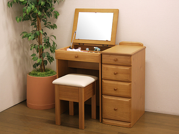 Side Dresser Mirror Desk Wagon Chair 3 Point Set Storage Table Drawers Outlet Rack And Dressing Makeup Units Wooden