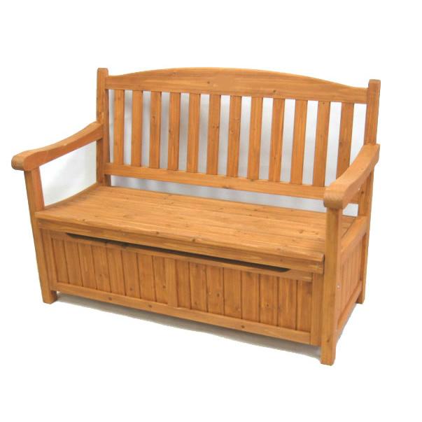 ガーデン収納庫付ベンチ120 JYB-120 ガーデニング チェア 椅子 カントリー ベンチ ガーデン 庭 玄関 屋外 ベンチ オシャレ 収納 天然木 木製 エクステリア ストッカー