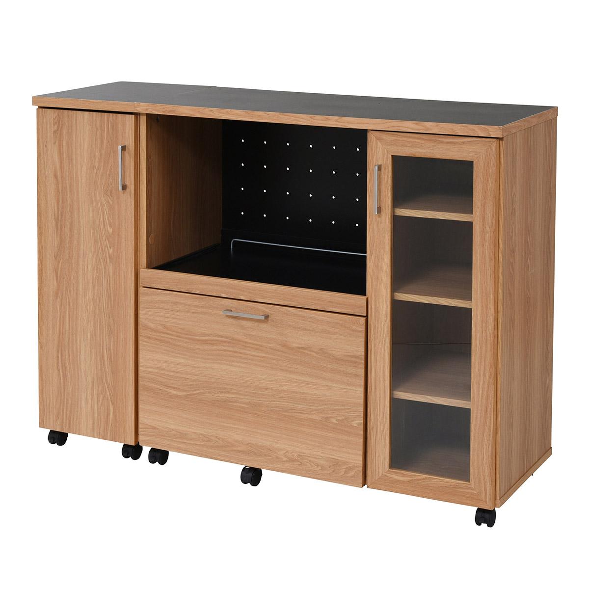 北欧キッチンシリーズ 幅120 キッチンカウンター収納庫付き 送料無料 激安セール アウトレット価格