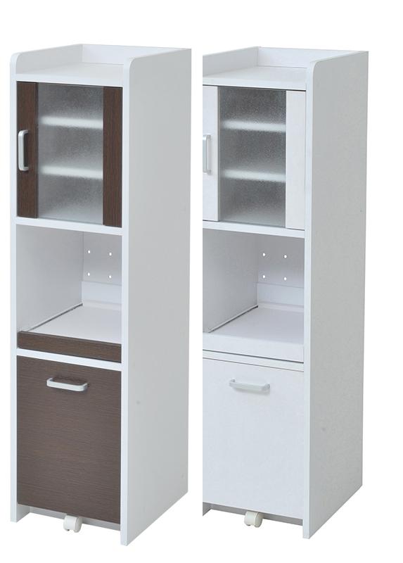 隙間ミニキッチン H120 扉付き ミニキッチン 小さい食器棚 スリム食器棚 小さい 低い 可愛い食器棚 コンパクト 低い食器棚 コンパクト食器棚 小型 キッチンラック スリム すきま 隙間収納 収納 ラック ホワイト 白 ブラウン