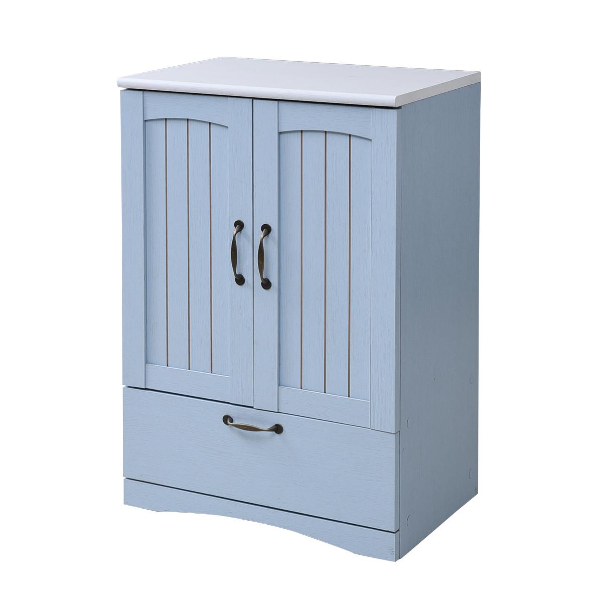 フレンチカントリー家具 チェスト&キャビネット 幅60 フレンチスタイル ブルー&ホワイト 激安セール アウトレット価格 人気ランキング