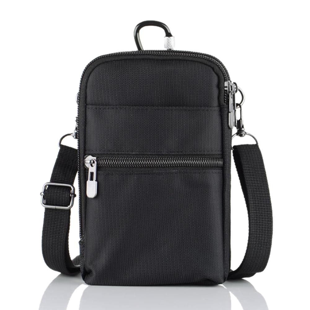 送料無料 ベルトに装着できる大容量ポケットバッグ スマホポーチ 在庫限り メンズポーチ 6.5インチ対応 防水 3WAY 小物入れ ヒップパック PPOKEBS 新品未使用 ウェストバッグ 4ポケット付き