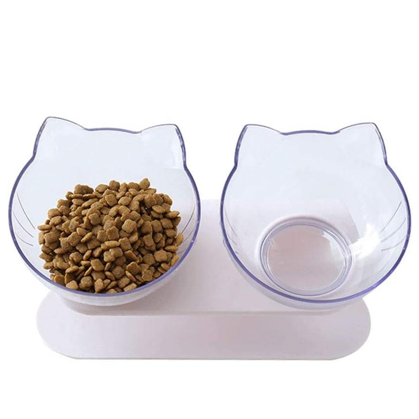 送料無料 愛犬用テントハウス 猫 メーカー公式 皿 卓越 えさ 食器ペット食器猫食器猫ボウルセットフードボウルペットボウル猫食べやすい滑り止め頭ダウンペット用品白NEKONIKOSETO