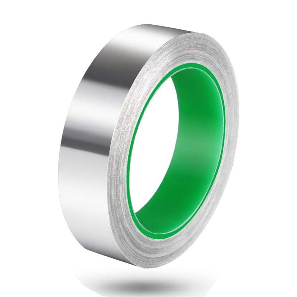 送料無料 当店は最高な サービスを提供します ランキング総合1位 貼るだけで粘着面と金属テープ表面が導電 導電性アルミテープ 幅25mm×長さ20m×厚さ0.1mm アルミ箔粘着テープ 導電 アルミテープ アルミテープチューン 耐熱 厚手 強粘着 RUMITAPE 静電気除去