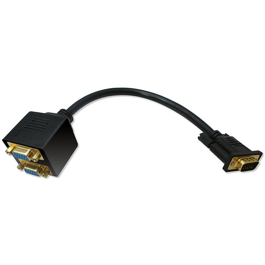 クレジット決済のみ送料無料 VGA ディスプレイ 分配 ケーブル デポー 公式ショップ 内蔵 BUNPAIVGA フェライト パソコン プロジェクター