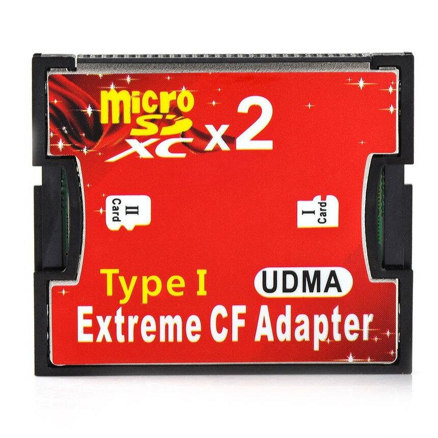 クレジットカード決済のみ送料無料 Micro SD 新作アイテム毎日更新 2枚 から CFカード 1枚 変換 CFアダプター MICROW adapter Compact 大幅値下げランキング マイクロダブル TypeI Flash アダプター