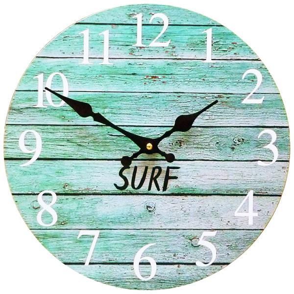 青い空に白い雲 西海岸の風を感じる壁掛け時計 おしゃれ 時計 サーフィン 波 海 ウエーブ 新生活 もようがえ 28.5cm 激安価格と即納で通信販売 アメリカン雑貨 壁掛け時計 限定価格セール KS-OLCLWASL 西海岸風 BL 西海岸雑貨 ウォールクロック インテリア サーフ