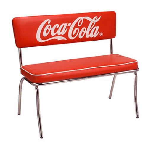 Coca-Cola コカコーラ 2人掛けベンチシート USA 西海岸風 インテリア アメリカン雑貨