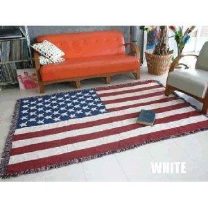 カントリーアメリカン 星条旗デザインの特大ラグマット 140×200cm 西海岸風 インテリア アメリカン雑貨