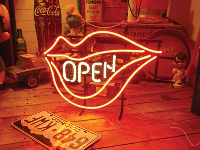 OPEN アメリカンダイナー オープン(オープンリップ)のネオン管 ネオンサイン 店舗看板 西海岸風 インテリア アメリカン雑貨