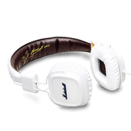 【国内正規品】 マーシャル ヘッドフォン メジャー ホワイト  Marshall Headphone MAJOR [iPhone iPod iPad対応モデル マイク&リモコン 付き ヘッドホン イヤホン 高音質] 西海岸風 インテリア アメリカン雑貨